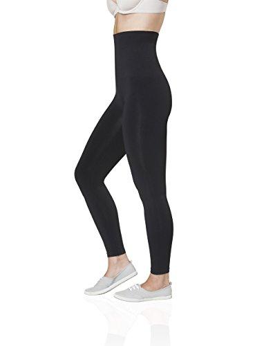 Sleex Hohe Figurformende Shapewear Leggings, Schwarz, Groesse L/XL (Kompressions-leggings Schwangerschafts)