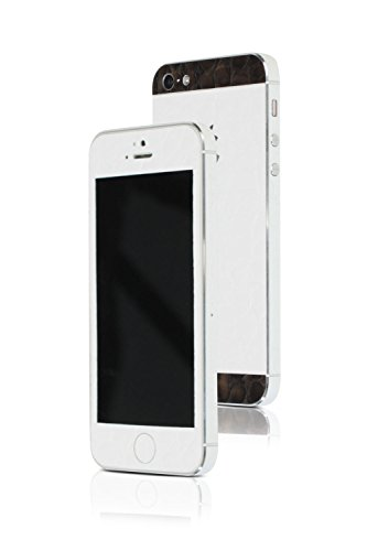 appskins Films Kit de iPhone 5/5S/SE Alligator White/Brown
