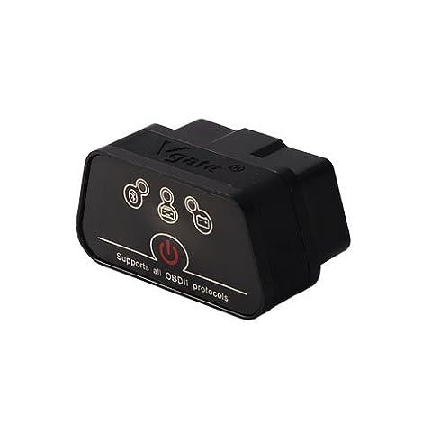 Vgate Icar2Bluetooth 3.0, lecteur de code de voiture Diagnostic Scanner, Mini ELM327OBD2/OBDII scanner pour couple Android/PC