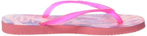 Havaianas Slim Tie Dye,Tongs femme Rose (Rose 2528)