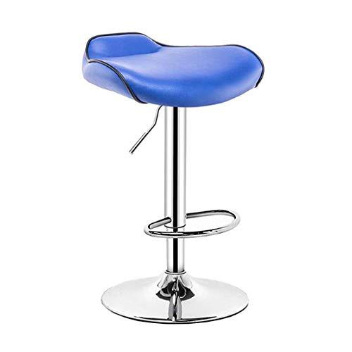 Zähler Höhe Tisch Hocker (Barstuhl Home High Hocker Aufzug Stuhl Bar Tisch und Stuhl Vorder Barhocker für 90~120 cm Höhe Zähler,Blue)