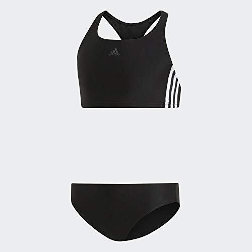 adidas Mädchen 3-Streifen Bikini-Set, Black/White, 152