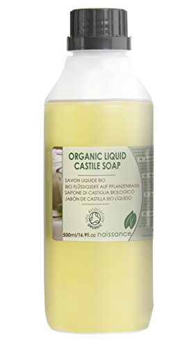 Naissance Natural Certified Organic Fragrance Free Liquid Castile Soap 500ml - Vegan, SLS and SLES Free