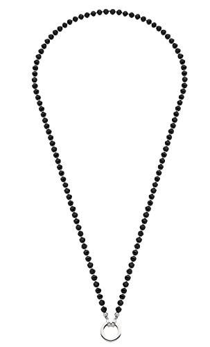 JEWELS BY LEONARDO DARLIN\'S Damen-Halskette Chicco, Edelstahl mit Glasperlen, CLIP & MIX System, Länge 800 mm, 016710