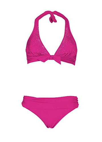 Heine Bikini mit Strass B-Cup Pink Größe 36