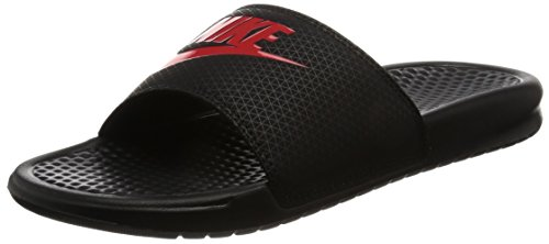 Nike Benassi JDI Black Red Mens Sandals 42.5 EU