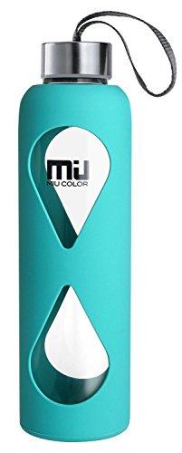 miu-colorr-550ml-glasflasche-trinkflasche-mit-silikonhulle-bpa-frei-blau