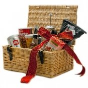 Go Nuts For Coffee Gift Hamper in Natural Wicker Basket