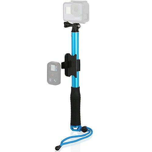 Wicked Chili Teleskop Selfie Stange für GoPro Hero, Activeon, A-Rival, DBPOWER, Garmin, QUMOX, Rollei, Tomtom Action Cam (Ausziehbar auf 30 – 91 cm, neigbar) Blau