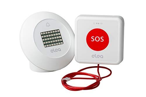 Elea Soluciones - Smart Kit Lite | Kit Alarma Inalambrica Baño Adaptado con Cordón de Emergencia y Baliza Luminosa y Acústica | Instalación rápida y sin Cables