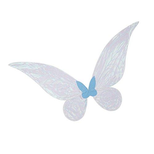 Gazechimp Blau Fee Flügel Kostüm Zubehör - (Erwachsene Fee Flügel)