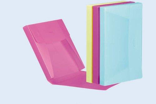 Pagna Boîte pour carnets A4 Lucy Trend en polypropylène, 30 mm, bleu clair