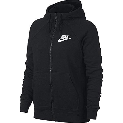 Nike Damen W NSW Rally FZ Sweatshirt, Black/White, S