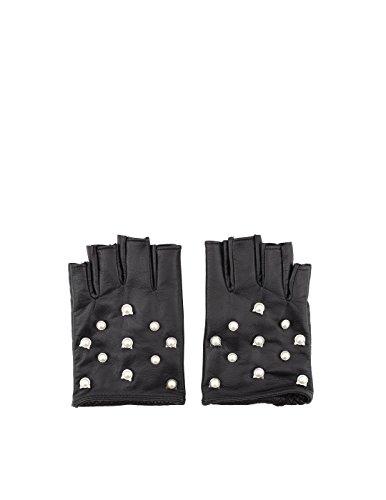Preisvergleich Produktbild Karl Lagerfeld Damen 81Kw3603999 Schwarz Leder Handschuhe