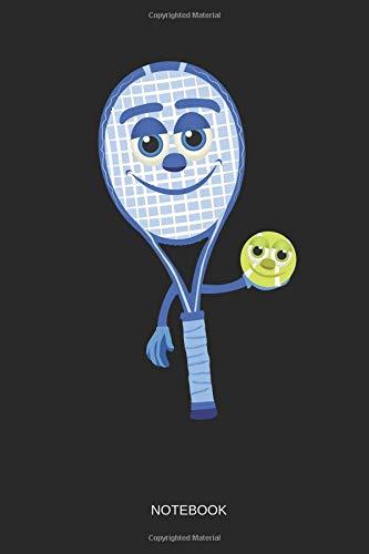 be2489a06 Tennis - Notebook: Kawaii Tennis Ball & Racquet - Tennis Notebook /  Journal. Funny