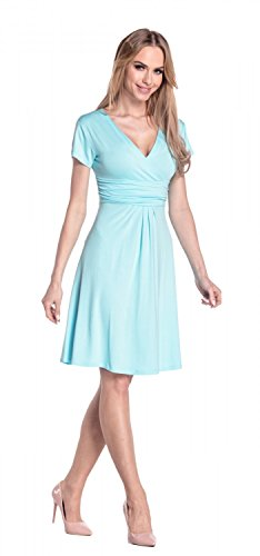 Glamour Empire Flattering Dress 108 - Patineuse - Femme Bleu Clair