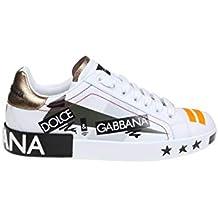 f5d63afdd4e Dolce E Gabbana Hombre CS1587AZ86089662 Blanco Cuero Zapatillas