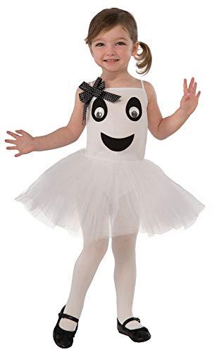 shoperama Kinderkostüm Kleines Ballerina Gespenst für Mädchen Halloween Geist Tutu Kostüm (Geister Halloween Kostüme)