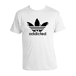 Bouldering T-shirt 100% Baumwolle Climbing Lovers T-shirt Addicted inspired by Adi- Das White T-shirt