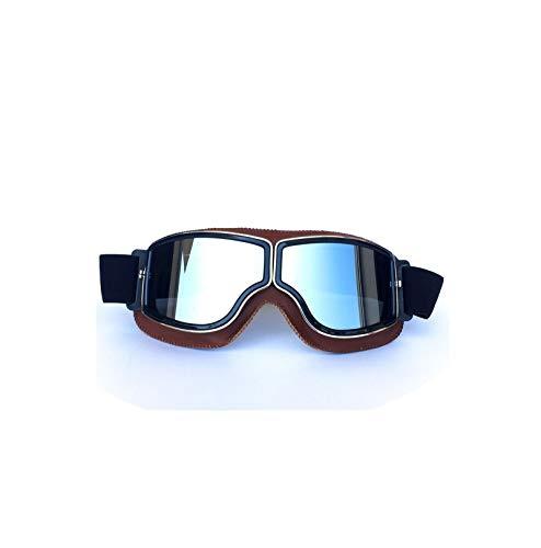 Gnzoe TPU+PC Staubschutz Radsportbrille Motorradbrillen Schutzbrillen Fahrradbrille für Motorrad Fahrrad Helmkompatible/Orange Silber