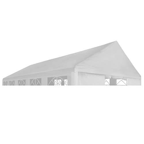 Partyzelt Festzelt wasserdicht Pavillon Dach 6 x 12 Mäweiß für Garten, Terrasse, Garten, Balkon