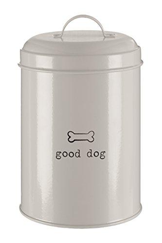 Premier Housewares Boîte de Rangement pour Nourriture Adore Pets avec Mention Clever Cat - Couleur : Naturel - 1,2 litres, Métal, Naturel, 12 Litre