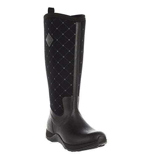 Muck Boots Arctic (Muck Boots Damen Arctic Adventure (Quilted Print) Gummistiefel, Schwarz (Black/Castlerock), 38 EU)