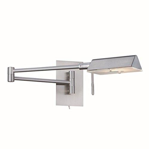 Wandleuchte in Edelstahl Silber Bauhaus Design 1xG9 bis zu 33 Watt 230V aus Glas & Schlafzimmer...