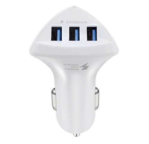 kgftdk Caricabatteria da Auto Triplo 3 Porte USB 3.0 Caricabatteria da Auto 5 V / 3.1A Veloce Adattatore per Caricabatteria da Viaggio Samsung Tablet Pc Veloce per iPhone iPad Samsu