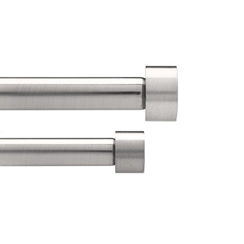 Umbra 245963-410 cappa bastone per tenda doppia, diametro 1.9 cm, 91.4 x 182.6 cm, nickel