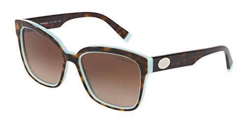 Tiffany Sonnenbrillen Return to TF 4162 Havana Turquoise/Brown Shaded Damenbrillen