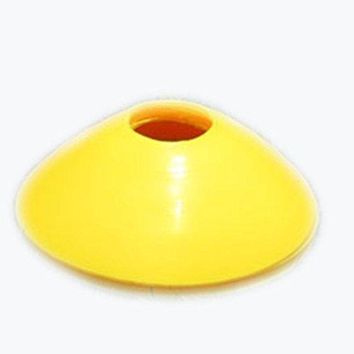 Dosige Markierungshütchen Fussball Trainingsgeräte Runde Discs Markierungsteller 10 Stück Gelb