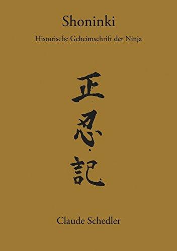 Buchcover: Shoninki: Historische Geheimschrift der Ninja (Books on Demand)