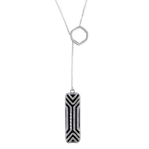 Wawer Halskette Edelstahl Anhänger Sleep Fitness Monitor für Fitbit Flex 2 (Silber) Fitness-halskette