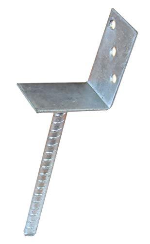Pfostenträger zum Einbetonieren L-Form Auflage 70 mm L-Träger Zaunträger