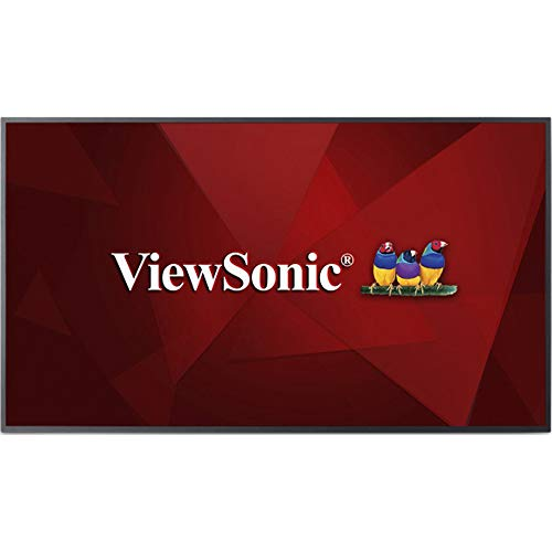 Viewsonic CDE5510 139,7 cm (55 Zoll) Digital Signage Display (4K, VA-Panel, HDMI, DVI, USB, VGA, Mediaplayer, Lautsprecher) Schwarz -