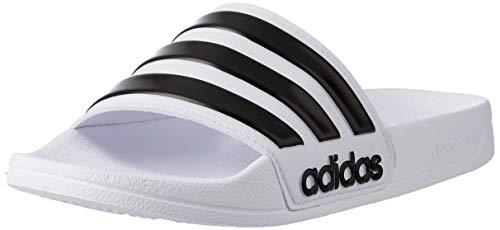 Adidas Adilette Shower, Herren Dusch- & Badeschuhe, Weiß (Footwear White/Core Black/Footwear White 0), 47 EU