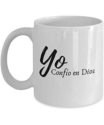 Yo Conf & Iacute; O En Dios - Christian Mug En Español- Taza Con Mensaje Cristiano 11Oz- Taza Cristiana Con Mensaje Cristiano