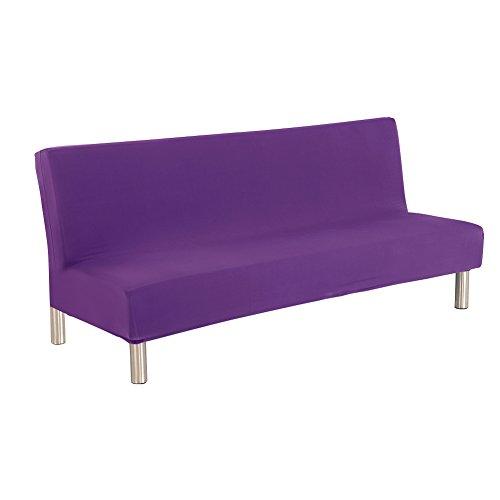 kati-way Housse Clic-clac Canapé, Decoration Maison Protection Clic Clac pour Déco de Canapé sans Accoudoir par (Violet)