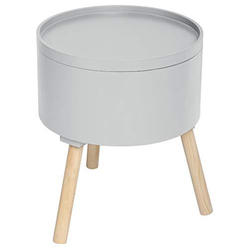 Atmosphera 2 en 1 Table Basse + Coffre de Rangement - Style scandinave - Coloris Gris