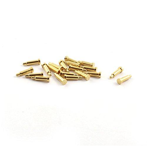 sourcing map 20 Stück Sphärische Spitze Feder Test Pin Sonde 1,4 mm Durchmesser 9mm Länge de -