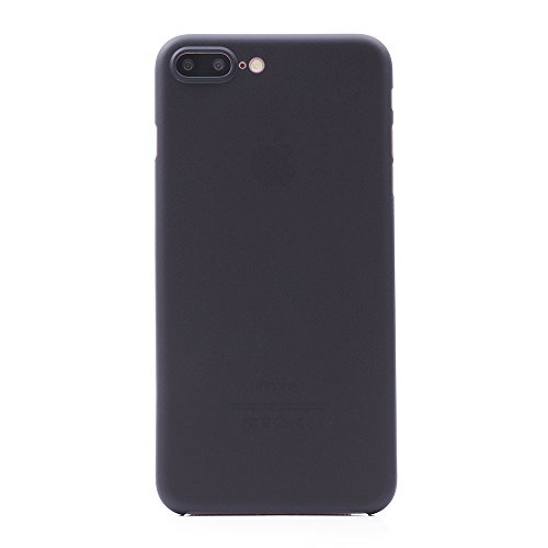 iProtect Apple iPhone 7 Plus, iPhone 8 Plus Hülle Farbverlauf Hard Case Schutzhülle orange 0,3mm schwarz