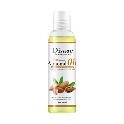 Pure Natural Mandel Oil 100ml Kaltgepresste Feuchtigkeitscreme Feuchtigkeitsspendende Hautpflege - Zitronenverbene, Lavendel Und Thymian