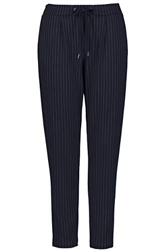 Gina Laura Große Größen Damen Slim Jeans Hose Nadelstreifen, Tunnelzug, Blau (Sky 76), 40 (Herstellergröße: 20) -