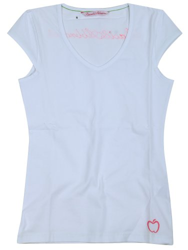 Baci & Abbracci -  T-shirt - Collo a V  - Maniche corte  - Donna Bianco