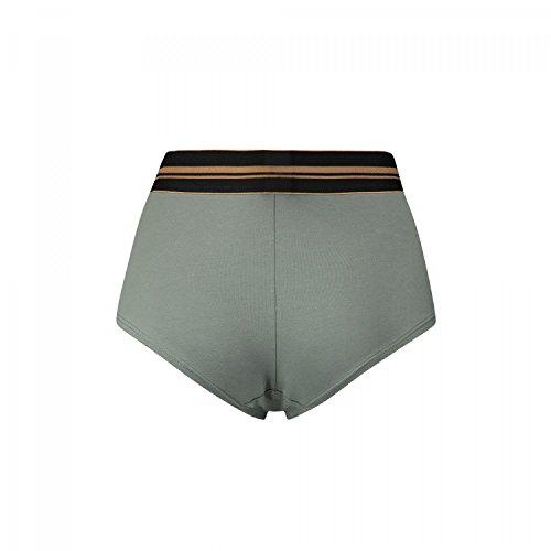 Puma Damen High Waist Short Gold Logo 2er Pack Oliv