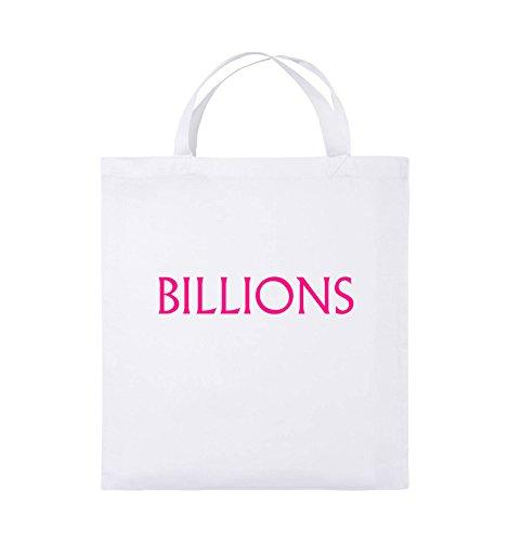 Farbe Henkel kurze Pink Bags Pink Jutebeutel LOGO Schwarz Comedy Weiss BILLIONS 38x42cm xqXwFx0