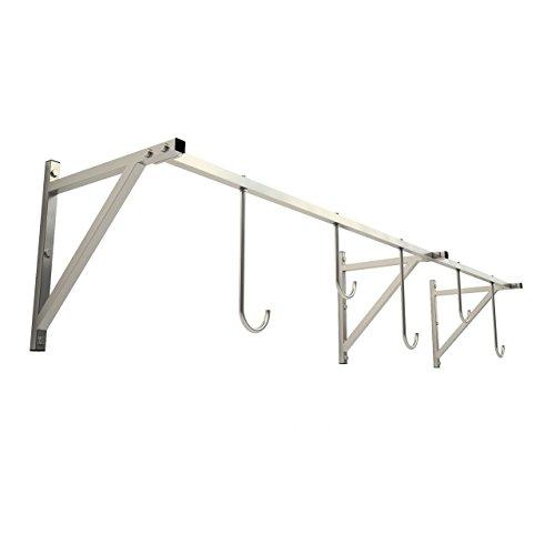 123home24.com Fahrradanhänger, Fahrradständer zur Wandmontage, Wandhalterung für 5 Fahrrad maximale Belastung 80 kg