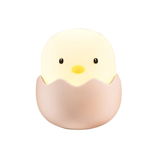 LED Chick Night Light for Kids, BestPanter Baby Child Night Light Tumbler Nursery Bedside Lamp, USB Rechargeable, Safe ABS+Silicone, Touch Control and Adjustable Brightness Function