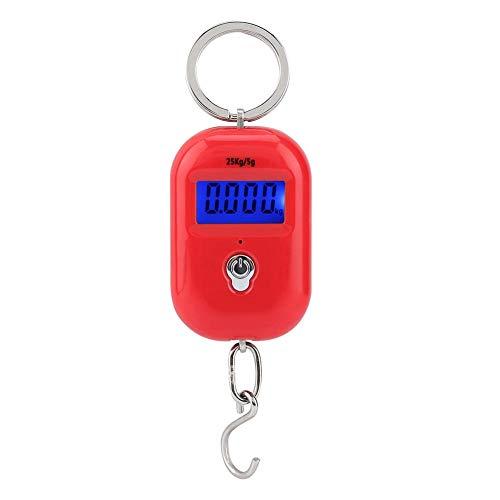 Especificación:   Condición: 100% nuevo  Material: plástico + componente electrónico  Color: rojo  Unidades: lb, kg  Tamaño: aprox.1.9 * 3.8 * 6cm / 0.7 * 1.5 * 2.4in    Lista de embalaje:   1 x balanza digital portátil (batería no incluida)    ...